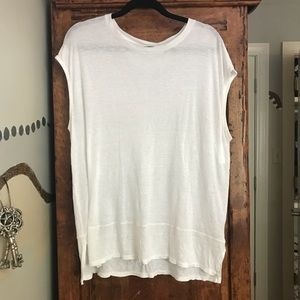 free people we the free white short sleeve top